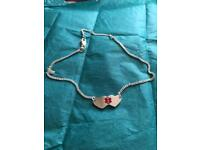 Lovely 925 silver medical id ankle chain