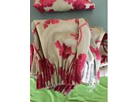 Beautiful laura Ashley fabric curtains