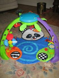 Fisher Price Baby Gym With hanging mobiles and playing music plus colotful play mat
