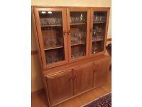 Ercol Windsor Display Cabinet, Elm, 3 door, superb condition