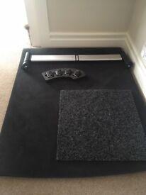 Audi A6 storage kit and reversible car mat