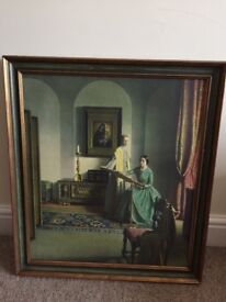 Old nice picture for sale with a nice antic frame.