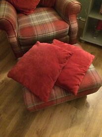2 next red cushions