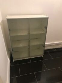 GLASS SIDE BOARD / SHELF / CABINET