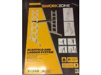 Aldi work zone Scaffold and ladder system
