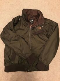 North Face brown bomber jacket