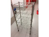 Metal wine rack with 6 shelves