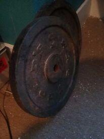 15kg standard weight plates