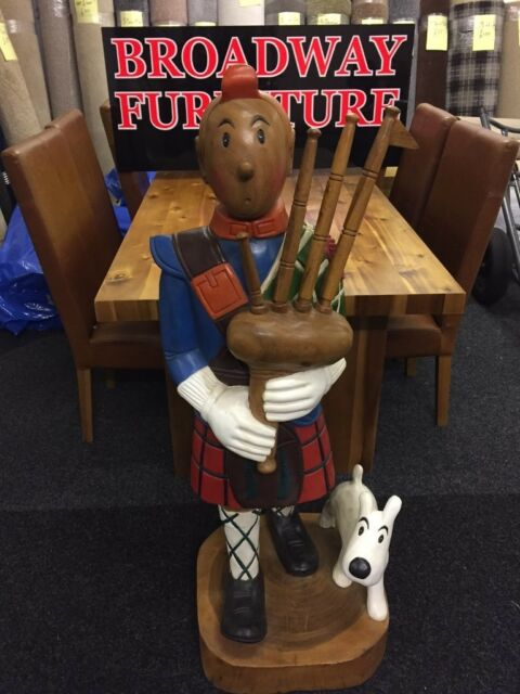 Tintin Scottish Bag Piper Man In Kilt Hand Carved Wooden 4ft Tall Figure In Lochgelly Fife Gumtree
