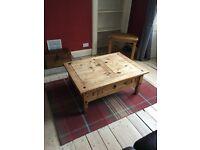 Coffee table (Ikea) - light oak effect.