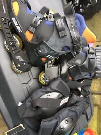 Roller blades and protective pads