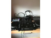Pioneer xdj 700 with 350m mixer