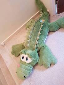 Giant stuffed crocodile