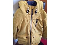 Original Monsoon Kids Padded Mustard Anorak Coat - size 5-6 Year Boys - nearly new. Great Condition