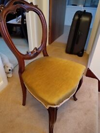 Vintage chair dark wood decorative