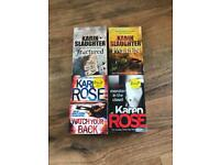 Selection of crime fiction books