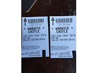 Two tickets - Warwick castle.