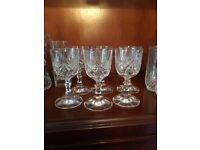 Webb crystal wine glasses