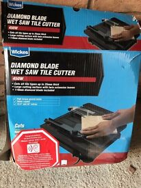 Wickes Diamond Blade Wet Saw Tile Cutter - 2nd Hand