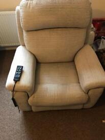Rise and tilt recliner chair