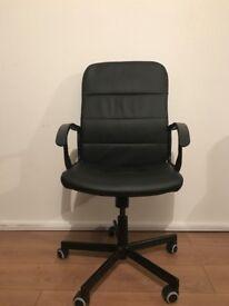 Ikea black comfortable chairs