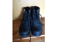 LADIES BLACK LACE UP BOOTS SIZE UK 4 New Condition