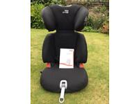 Child's Britax car seat with instructions and isofix fittings