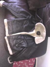 Medium leather flying jacket