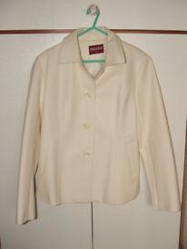 'ONADO' Cream PVC jacket – Size L (approx 14/16) – brand new no tags