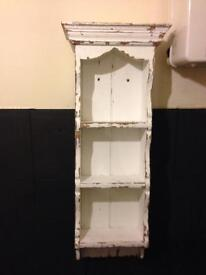 Solid pine shabby chic wall/floor unit project