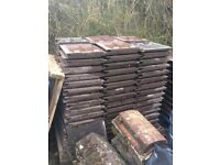 Redland Stonewold brown roof tiles approx 250 (including some ridge tiles)