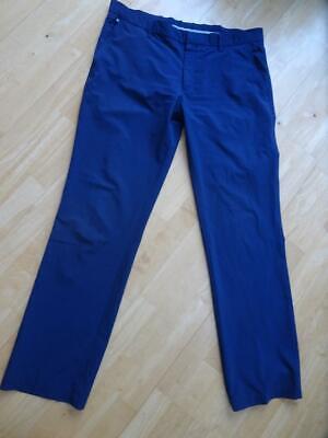 J LINDEBERG mens navy blue golf chino trousers SIZE 38 WAIST / 34 LEG REGULAR