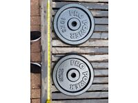 10KG weights x2, 1 inch holes