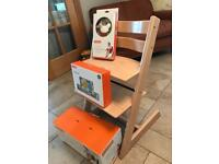 Stokke High chair with baby seat cushion and harness