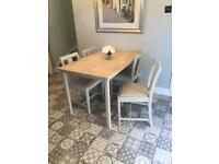 Restored dining table & 4 chairs
