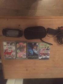 Sony PSP and 4 games