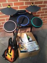 Wii - Guitar Hero & games pack Grange Charles Sturt Area Preview