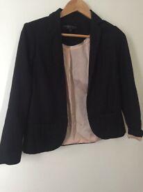 Black top shop blazer/jacket, petite size 6