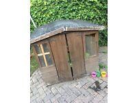 Outdoor wooden playhouse