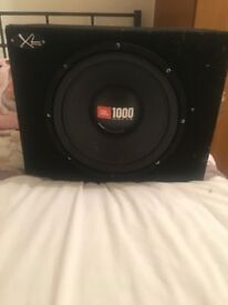 JBL subwoofer 1000 watts and 400w amp for sale