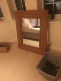 Oak mirror Next Hudson range