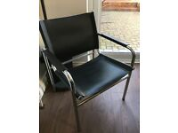 Ikea Accent Chair - Black and Chrome