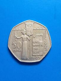 50p coin 2003. Give women the vote .