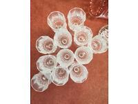 12 wine glasses medium weight crystal effect