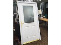 COMPOSITE DOOR WITH FRAME AND KEY W102 cm H208 D7 cm £130