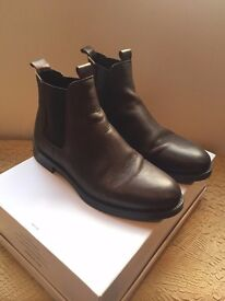 Portuguese Brown Leather Chelsea Boots (NEW!) (Size 7)