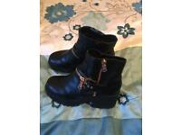 Ladies Black River Island Boots Size 8