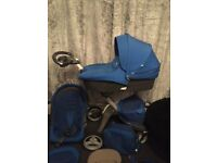 Stokke xplory in special edition cobalt blue, excellent condition, hardly used.
