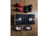 Martial Art Equipment - Shield, Focus Mitts, Boxing Gloves and Feet protectors