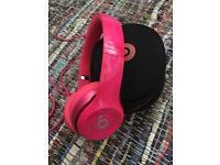 Pink Solo Beats Headphones - As NEW